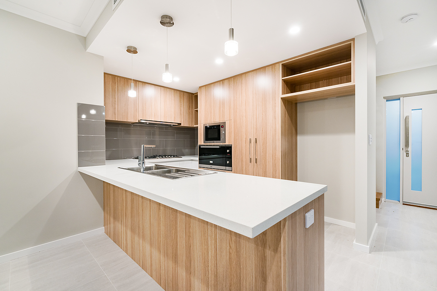 Bamboo kitchen benchtop