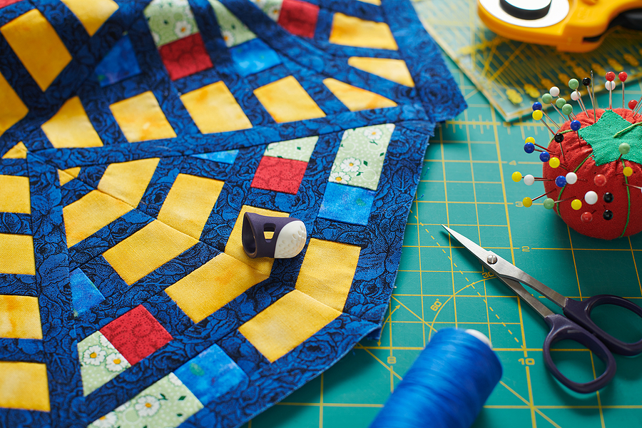 Fragment of a quilt