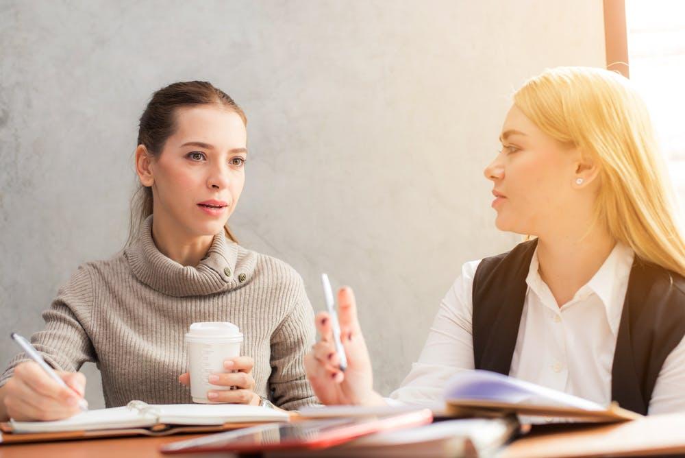 Young women applying for HR internships